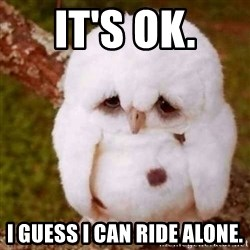 Depressed Owl - It's OK. I guess I can ride alone.