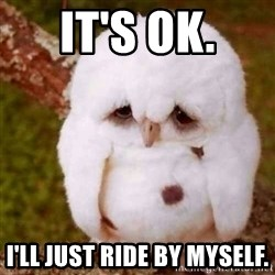 Depressed Owl - It's OK. I'll just ride by myself.