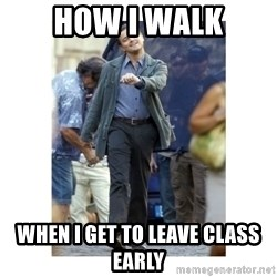 Leonardo DiCaprio Walking - How i walk when i get to leave class early