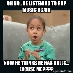 Raven Symone - oh no.. he listening to rap music again now he thinks he has balls... excuse me????