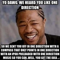 Yo Dawg - yo dawg, we heard you like one direction so we sent you off in one direction with a compass that only points in one direction with an ipod preloaded with one direction music so you can..well, you get the idea