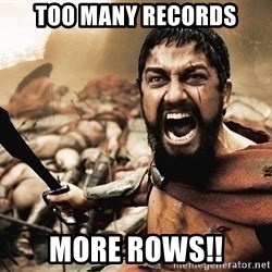 300 sparta - TOO MANY RECORDS MORE ROWS!!