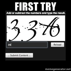 Captcha - First Try