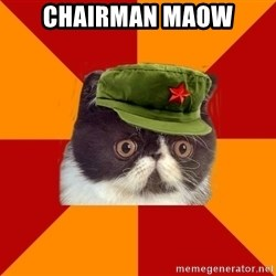 Communist Cat - chairman maow