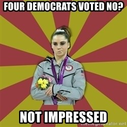Not Impressed Makayla - four democrats voted no? not impressed
