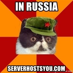 Communist Cat - in russia serverhostsyou.com