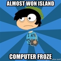 Poptropican - almost won island computer froze