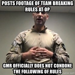GMRPLS - posts footage of team breaking rules at op gmr OFFICIALly does not condone the following of rules