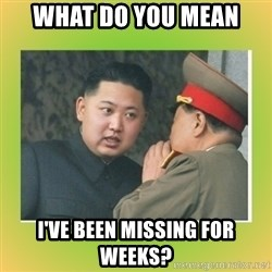 kim joung - what do you mean I've been missing for weeks?