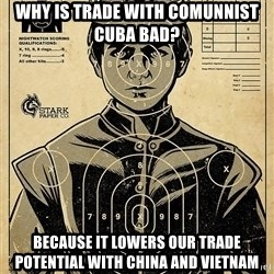 Child queen Phlash Misericord - Why is trade with comunnist Cuba bad? Because it lowers our trade potential with China and Vietnam