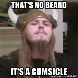 Nordic Lopez - That's no beard It's a cumsicle
