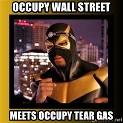 Phoenix Jones - occupy wall street meets occupy tear gas