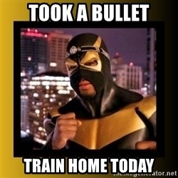 Phoenix Jones - took a bullet train home today
