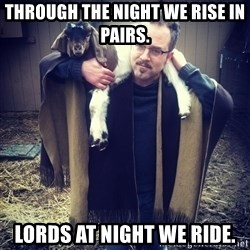 paulusdan - Through the night we rise in pairs. Lords at night we ride.