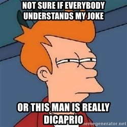 Not sure if meme 2342 - not sure if everybody understands my joke or this man is really dicaprio