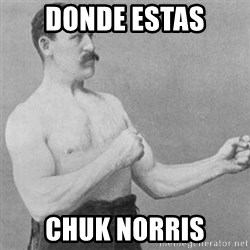 overly manly man - donde estas chuk norris