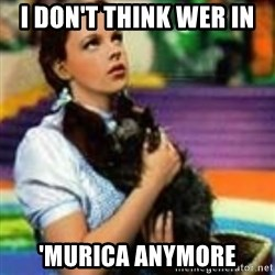 dorothy toto - i don't think wer in  'murica anymore