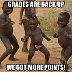 african children dancing - GRADES ARE BACK UP WE GOT MORE POINTS!
