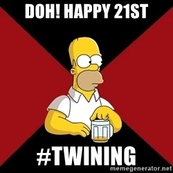 Homer Jay Simpson - DoH! happy 21st #twinIng