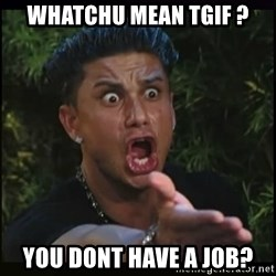 Dj Pauly D - Whatchu mean TGIF ? You dOnt have a joB?