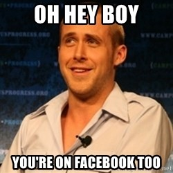Typographer Ryan Gosling - oh hey boy you're on facebook too