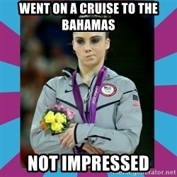 Makayla Maroney  - WENT ON A CRUISE TO THE BAHAMAS NOT IMPRESSED