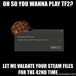 Scumbag Steam - oh so you wanna play tf2? let me valdate your steam files for the 42nd time