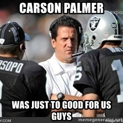 Knapped  - CARSON PALMER WAS JUST TO GOOD FOR US GUYS