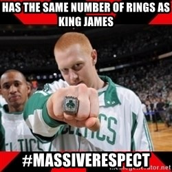 Brian Scalabrine (White Mamba) - Has the Same Number of RIngs as King james #MassiveRespect
