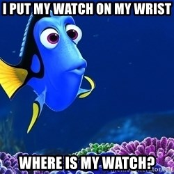 Forgetful Dori - i PUT MY WATCH ON MY WRIST WHERE IS MY WATCH?