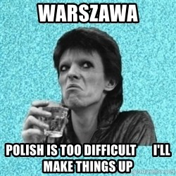 Disturbed Bowie - Warszawa Polish is too difficult       I'll make things up