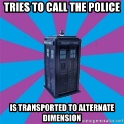 TARDIS Doctor Who - TRIES TO CALL THE POLICE IS TRANSPORTED TO ALTERNATE DIMENSION