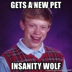 Bad Luck Brian - gets a new pet insanity wolf