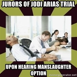 And then we said - jURORS OF JODI ARIAS TRIAL UPON HEARING MANSLAUGHTER OPTION