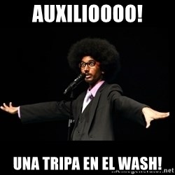 AFRO Knows - auxilioooo! una tripa en el wash!