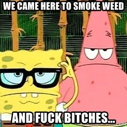 Serious Spongebob - WE CAME HERE TO SMOKE WEED AND FUCK BITCHES...