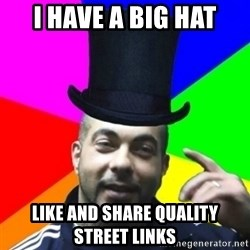 facebookazad - I HAVE A BIG HAT LIKE AND SHARE QUALITY STREET LINKS