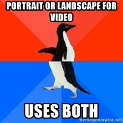 Socially Awesome Awkward Penguin - PORTRAIT OR LANDSCAPE FOR VIDEO USES BOTH