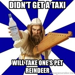 FinnishProblems - Didn't get a taxi will take one's pet reindeer