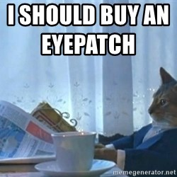 Boat cat meme - I should buy an eyepatch
