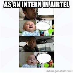 The rock and baby - as an intern in airtel
