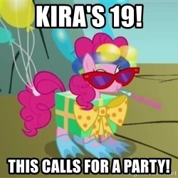 pinkie pie dragonshy - kira's 19! This calls for a party!