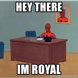 Spiderman Desk - hey there im royal