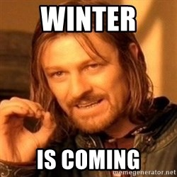 One Does Not Simply - winter  is coming