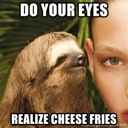 Whisper Sloth - Do your eyes  realize cheese fries