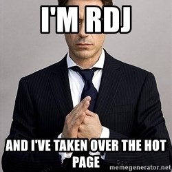 Robert Downey Jr. - I'm rdJ And I've taken over the hot page
