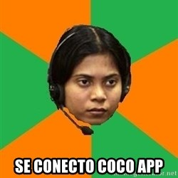 Stereotypical Indian Telemarketer -  se conecto coco app