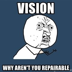 Y U No - Vision Why aren't you repairable