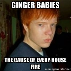 Flame_haired_Poser - GINGER BABIES THE CAUSE OF EVERY HOUSE FIRE
