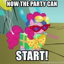 pinkie pie dragonshy - now the party can start!